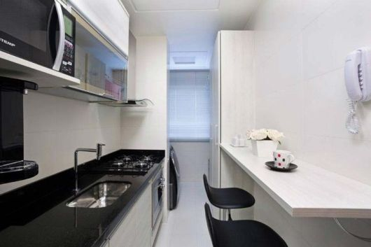decoração cozinha corredor