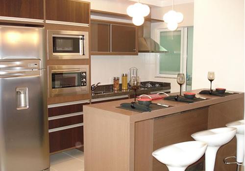 cozinha americana marrom
