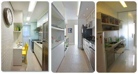 projetos cozinha corredor