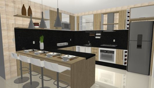 Modelos de cozinhas planejadas modernas e sofisticadas