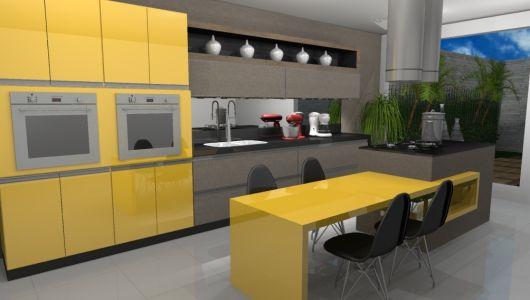cozinha moderna e sofisticada