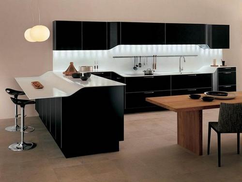 cozinha armário planejado preto
