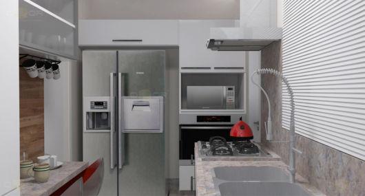 projeto cozinha corredor