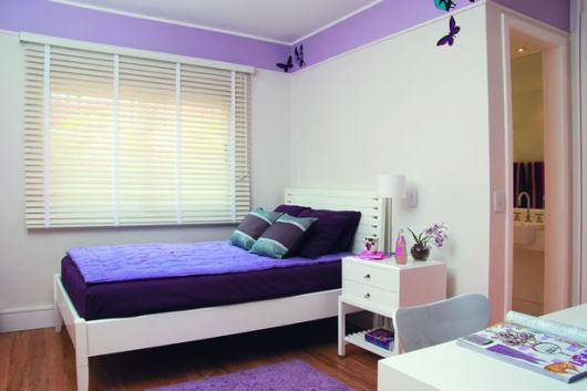 decoração roxa quarto menina