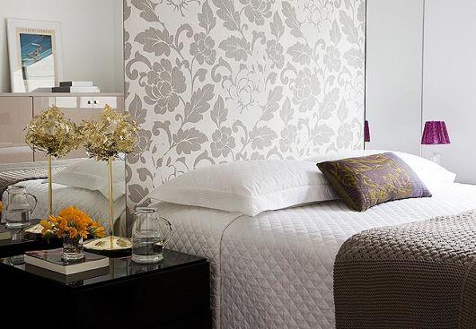 papel parede floral