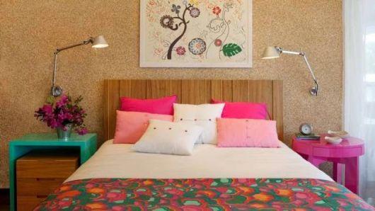quarto rosa e turquesa
