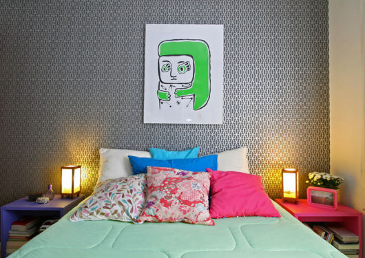 papel parede moderno quarto
