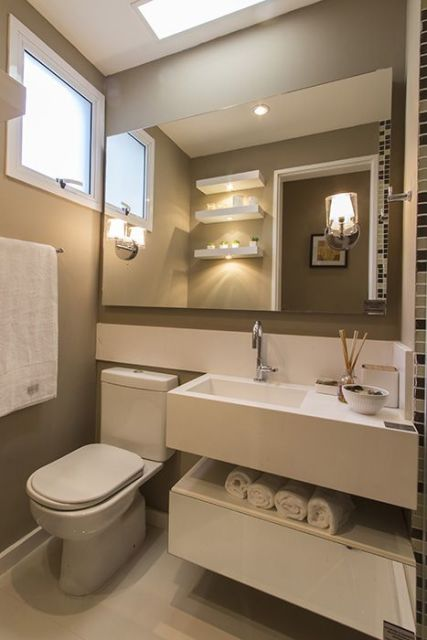 40 MODELOS DE LAVABOS Do Simples ao Sofisticado # Banheiro Pequeno Sofisticado