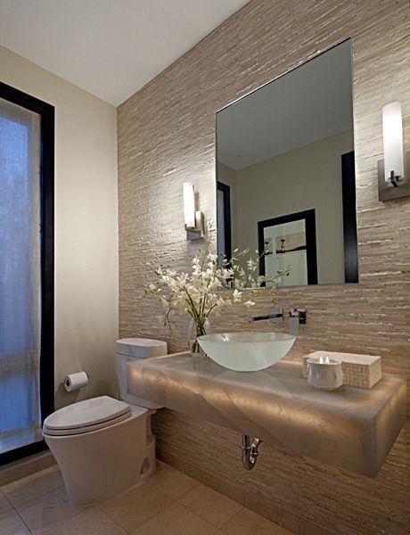 parede de pedras banheiro