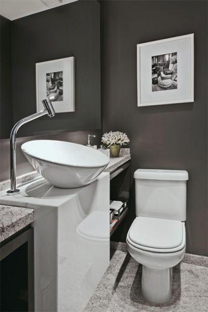 decoração com quadro no lavabo