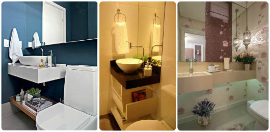 ideias para lavabo simples e bonito