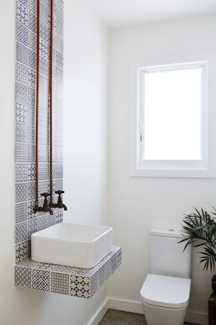 lavabo pequeno decorado