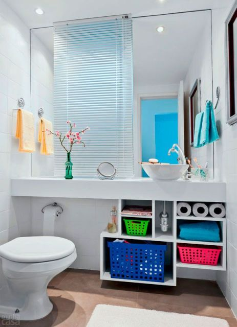lavabo simples colorido