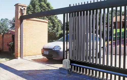portão com montor