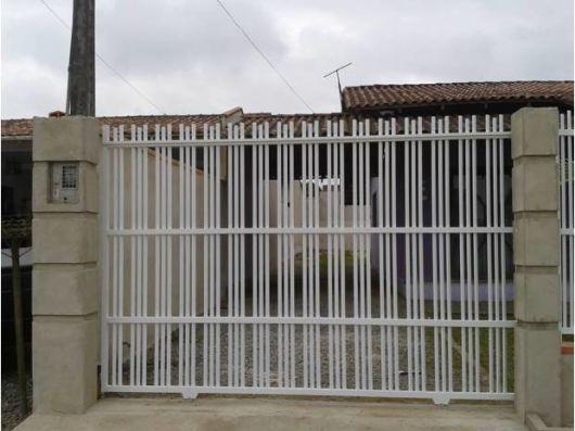 portão manual
