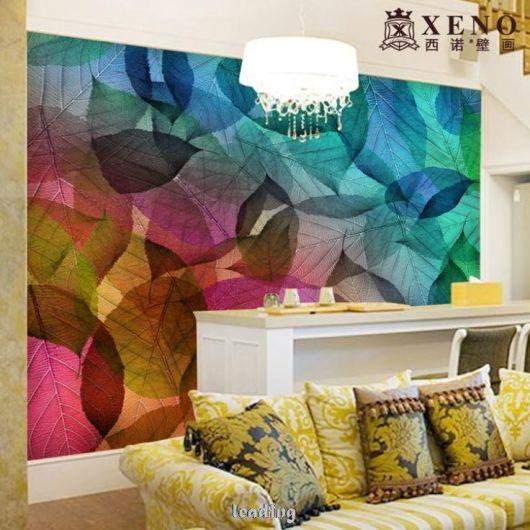 sala papel parede moderno