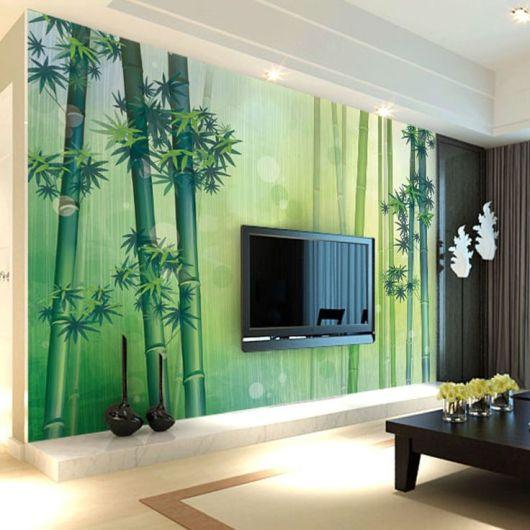 Papel de parede 50 dicas e fotos imperd veis decora o for Sala de estar com papel de parede 3d