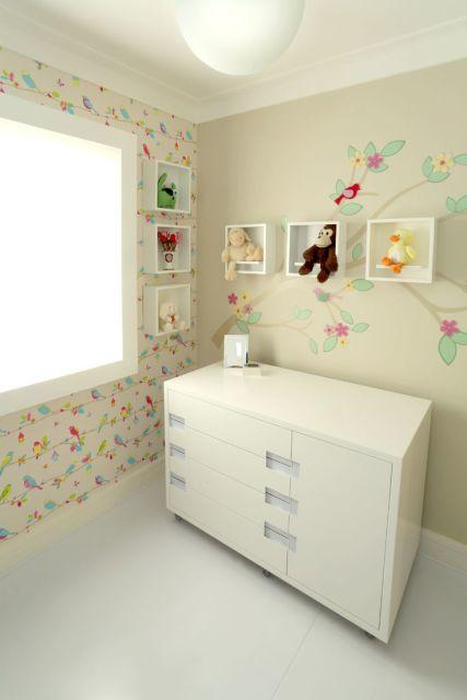 quarto de bebê decoração passarinhos