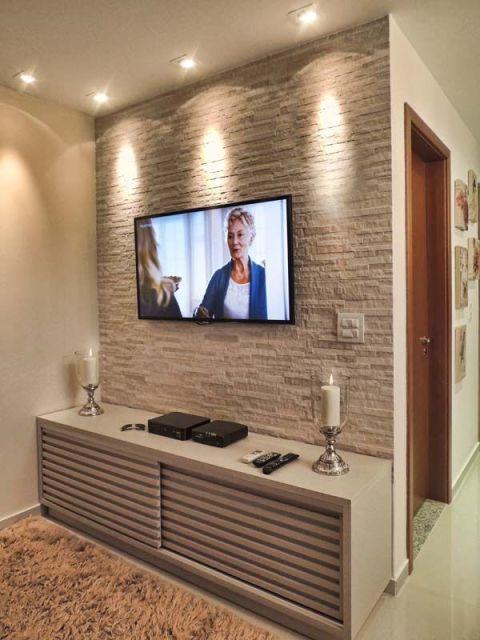 Sala De Tv Decorada Fotos ~ Modelos de estampas de papel de parede