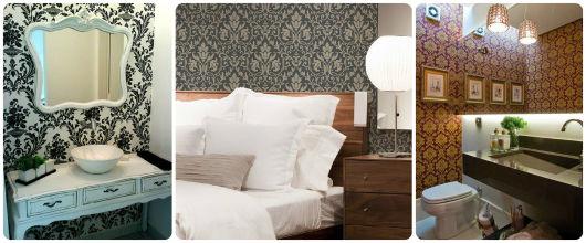 decoração papel parede arabesco