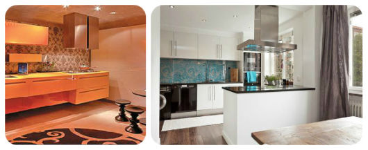 parede de arabescos cozinhas