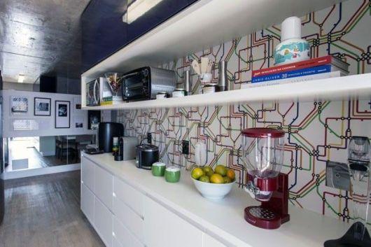 papel parede moderno cozinha