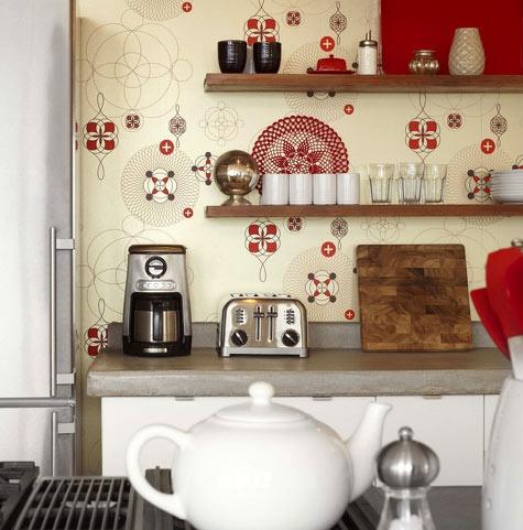papel parede colorido para cozinha