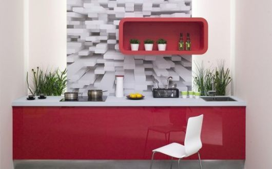 papel de parede 3d cozinha