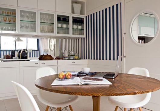 parede listrada cozinha
