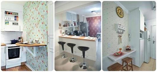 parede decorada na cozinha