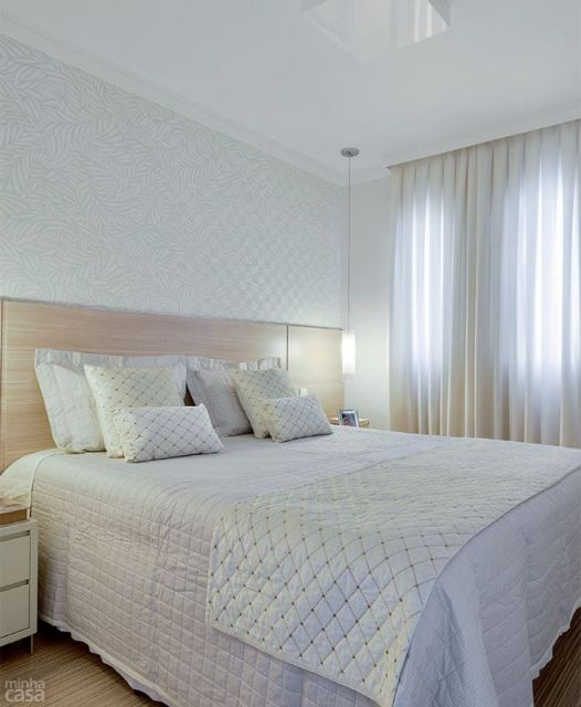 Papel de parede para quarto de casal 50 estilos - Papel decorado para paredes ...