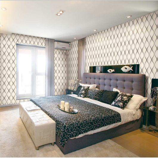 Papel de parede para quarto de casal 50 estilos - Papel de pared moderno ...