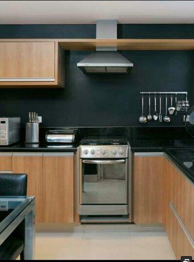 cozinha parede preta