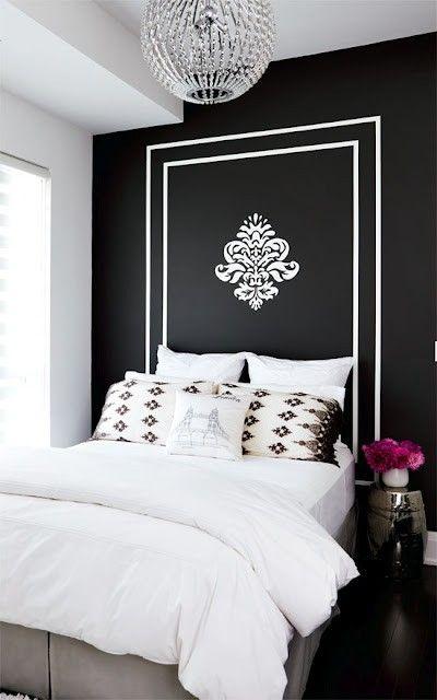 cabeceira pintada parede