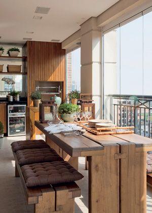 decoração varanda gourmet