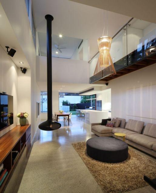 Large Ceiling Fan For Great Room: SALA COM LAREIRA: 40 Dicas Imperdíveis E Fotos