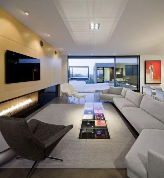 Sala com lareira 40 dicas imperd veis e fotos for Appartamenti decor