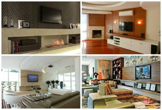 ideias para lareiras em casa