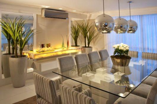 #474314 VASO VIETNAMITA na Decoração Como Fazer Modelos 530x352 píxeis em Ambientes De Sala De Estar Jantar Modernos E Sofisticados