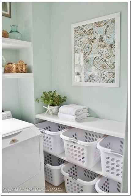 Rea de servi o decorada e organizada - Organizador de lavanderia ...