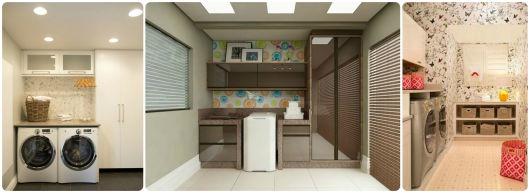 modelos de lavanderias e areas de servico decoradas : papel de parede ?rea de servi?o