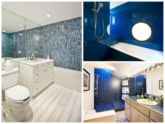 BANHEIRO AZUL 80 Ideias de Projetos e Fotos! # Banheiro Com Pastilha Azul Escuro