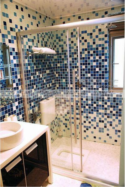 BANHEIRO AZUL 80 Ideias de Projetos e Fotos! -> Banheiro Decorado Azul