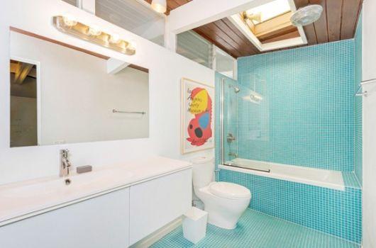 BANHEIRO AZUL 80 Ideias de Projetos e Fotos! -> Armario De Banheiro Joli