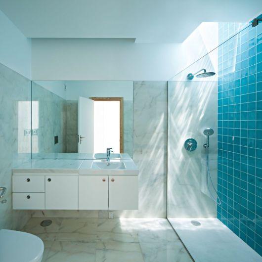 Banheiros Em Azul E Branco : Banheiro azul ideias de projetos e fotos