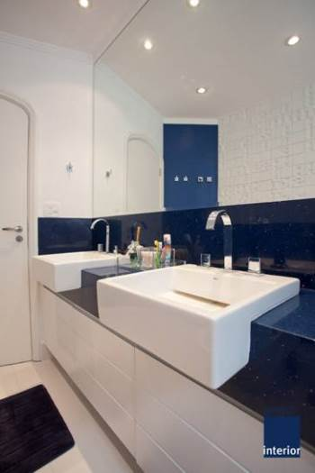 BANHEIRO AZUL 80 Ideias de Projetos e Fotos! -> Pia Banheiro Azul