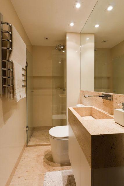 70 BANHEIROS MODERNOS IMPERDÍVEIS! Fotos e Dicas -> Banheiro Pequeno Com Hidro E Chuveiro