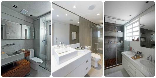 70 BANHEIROS MODERNOS IMPERDÍVEIS! Fotos e Dicas -> Banheiro Decorado Com Cimento Queimado