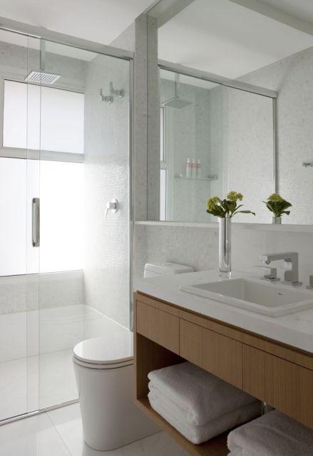 70 BANHEIROS MODERNOS IMPERDÍVEIS! Fotos e Dicas -> Banheiro Moderno Casal