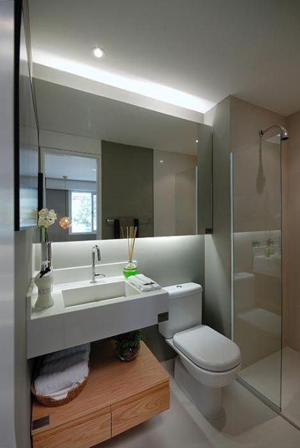 70 BANHEIROS MODERNOS IMPERDÍVEIS! Fotos e Dicas -> Banheiros Modernos Chuveiro